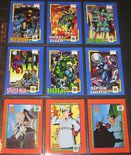 MARVEL SUPER HEROES UNIVERSAL MONSTERS SUPER MARIO © 1991 Complete 36 Card Set