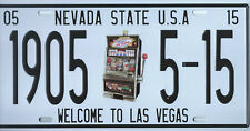 PLAQUE DE VOITURE AMERICAINE- LAS VEGAS -NEVADA STATE USA - NEUVE-DECO