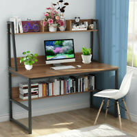 Computer Desk 47-inch Home Office Home Office Desk Space-Saving Design w/Shelf