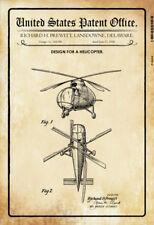 US Patent Hubschrauber Helicopter 1946 Blechschild Schild Tin Sign 20 x 30 cm