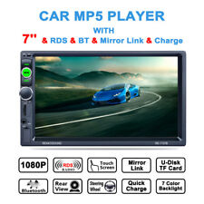 "7"" TFT Bluetooth Car Touch Screen MP4/MP5 Player In-Dash Stereo No Rear Camera"