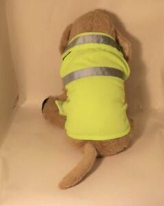 High Visibility Dog puppy Jacket vest reflective walking fluorescent Hi-Viz pet