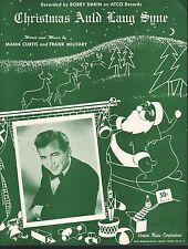 Christmas Auld Lang Syne 1960 Bobby Darin Sheet Music