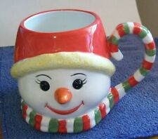 Christopher Radko Christmas Traditions Holiday Celebrations Snowman Mug