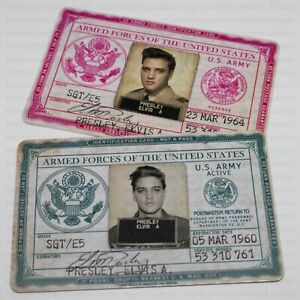US ARMY Sergeant Elvis Presley, Novelty Military ID Card, Movie Prop