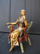 ARAB WOMAN in CHAIR   Statue  bronze austrian stile