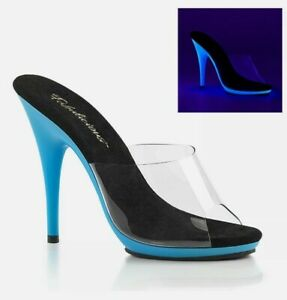 """Pleaser Fabulicious 5"""" Heel 3/8"""" PF Slide Adult Women Shoes Sandals POISE501UV"""