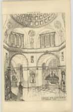 1897 Design For A Mausoleum By John Belcher Interior View