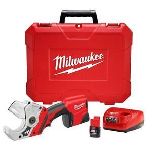 Milwaukee 2470-21 M12 12V Plastic Pipe Shear Kit