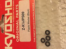 Kyosho vintage piezas originales, Arandelas De Plástico Negro x 4, nuevo en paquete, WPS09