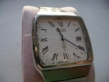 Seiko 0842 Quartz Vintage Mens Watch, Working! King Grand QT 3003