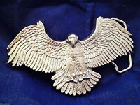 American Eagle Solid Brass Belt Buckle  (Silver)