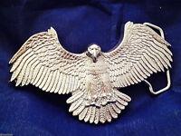 American Eagle Solid Brass Belt Buckle  (Silver)