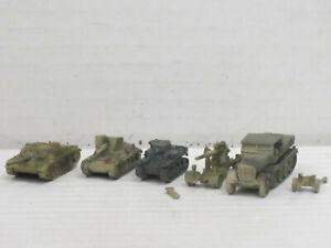 Militärfahrzeuge aus Weißmetall, o.OVP, Skytrex/Mercator, ca. 1:200/220, Set 19