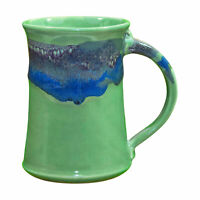 Clay in Motion Handmade Ceramic Large Mug Coffee Cup 20 oz - Misty Green
