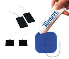 Tensive Adhesive & Conductive Gel + 1 Pack of 4 Tens Machine Pads - Latex Free