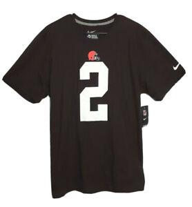 NFL Football Nike Mens Cleveland Browns #2 Johnny Manziel T-Shirt XL Brown 2 NWT
