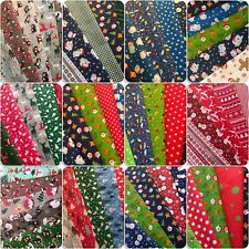 CHRISTMAS FABRIC FAT QUARTER / SQUARE BUNDLES.POLYCOTTON.CRAFTWORK.SAME DAY POST