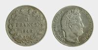 pci5262) France 5 Francs 1846 A - LOUIS PHILIPPE I