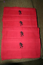 Mickey Mouse Inspired 4 DishCloths w/Mickey Shadow embroidered NWOT