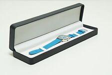 2x UHRENETUI Uhrenbox Armbanduhren Leder-Optik Schmuck Halsketten Etui Schwarz