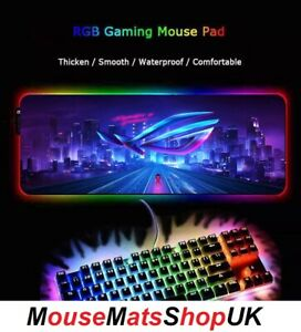 X4mm ASUS ROG RGB LED Extra Large Gaming Mouse Pad Mat Non-Slip 80X30CM