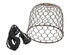 """Rustic Chicken Wire Dome Pendant Light-Farmhouse Decor Diameter 10"""" Height 8.5"""""""
