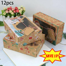 12 Christmas Candy Cookie Bakery Best Gift Boxes Cupcake Muffin Cake Box