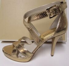 Michael Kors Size 7.5 Gold Leather New Womens Shoes