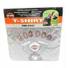 Harley Davidson T Shirt Large Breed Dogs Gray Hog Dog Motorcycle Biker Logo L XL