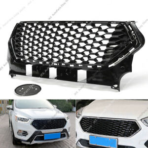 Front Bumper Honeycomb Center Middle Grille o Grill Fit For Ford Escape 2017-19