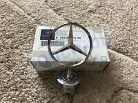 Mercedes Bonnet Raised Star Emblem Badge with Crest C E S CLK Class A2108800186