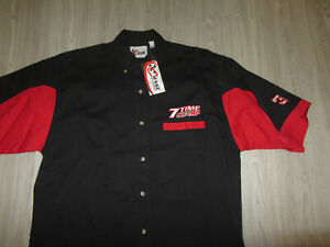 NWT NEW NASCAR Dale Earnhardt 7 Time Champ Chase Authentic Embroidered Shirt M