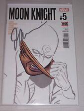 Moon Knight #5! (2016) Signed by Writer Jeff Lemire! NM! COA!