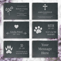Personalised Slate Memorial Plaque Engraved Stone Remembrance Pet Sentiment