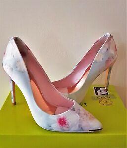 New Ted Baker Kawaap Chelsea Grey Court Evening Shoes/Heels 6 Eu39*Dress Bag Lst