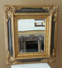 """Ornate Solid Wood """"15x17"""" Rectangle Beveled Framed Wall Mirror"""