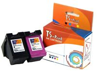 TS-Print Drucker Set Tinten-Patronen für HP 62-XL bk + c Deskjet Advantage 5645