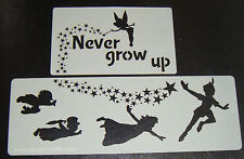 Never grow up Peter pan Cake stencils Airbrush Mylar Film