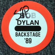 BOB DYLAN REPRO 1989 TOUR CONCERT GUEST BACKSTAGE PASS STICKER