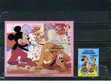 "Grenada Grenadines 1981 Disney ""Pluto 50Th Birthday"" Set Of 1 Stamp & S/S Mnh"