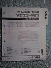 Yamaha ycr-50 service manual original repair book stereo car tape player radio