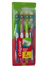 Colgate Premier Clean Toothbrush - Remove Stains - Medium Bristles - 4 Pck