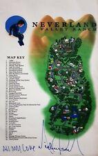 MICHAEL JACKSON NEVERLAND MAP SIGNED NO FEDORA