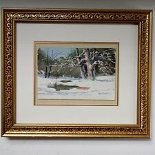 Gene V.Dougherty71 ORIGINAL WATERCOLOR Landscape,Signed,Matted,Framed,UnderGlass