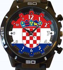 Flag Of Croatia New Gt Series Sports Wrist Watch
