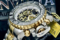 NEW Invicta SEA HUNTER Gen II 70MM SWISS MOVT Two Tone Chrono S.S Bracelet Watch