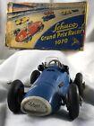 Vintage Schuco Blue Grand Prix Racer 1070 - Clockwork Car Mechanism - Key Wound.
