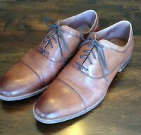 Men's leather Oxford Shoe Size 11 Combatant Gentlemen Toecap Lace Up Dress Shoe