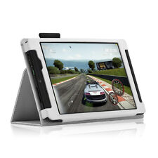 Exact Pro【Leather】Case Stand For 2015 NVIDIA Shield Tablet K-1 2015 8-inch WHI